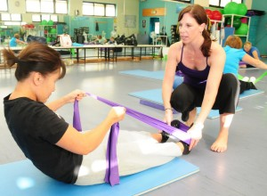 Pilates classes can be floor based or involve equipment
